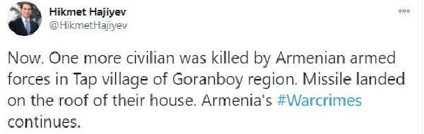 Ermenistan Goranboy'u vurdu: 1 ölü (DHA)