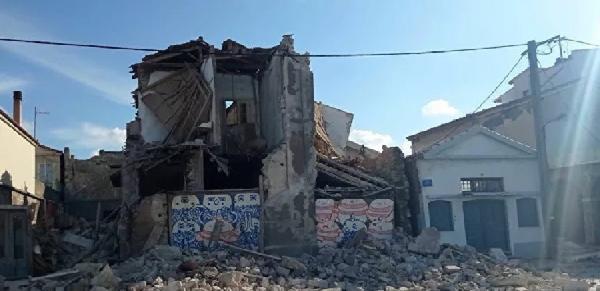 Depremin merkez üssü Yunan adası Sisam'dan ilk görüntüler (DHA)