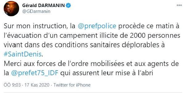 Fransa'da polis ile mülteciler arasında arbede (DHA)