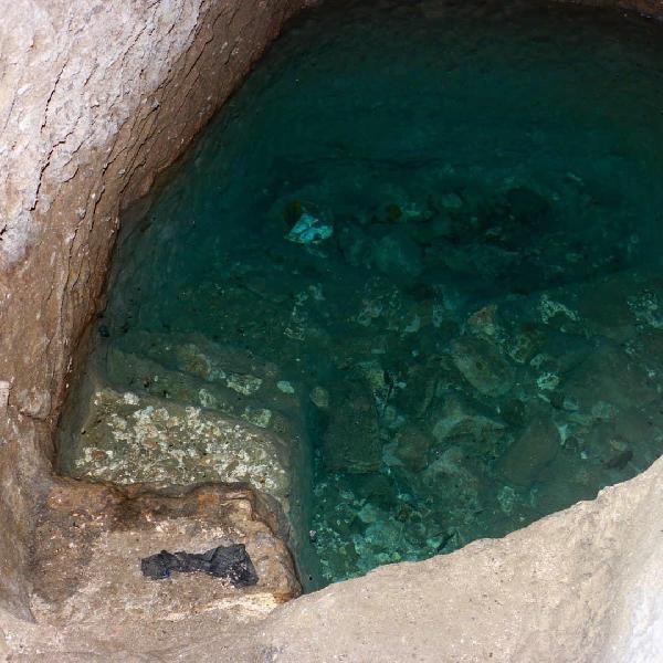 YERALTI YERLESIM YERINDE 12 ODANIN DISINDA KAYNAK SU ALANI DA BULUNUYOR. FOTO: KAYSERI-DHA