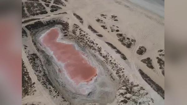 BAE'de keşfedilen pembe göl görenleri şaşırttı (DHA)