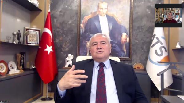 ANTALYA TICARET VE SANAYI ODASI (ATSO) MESLEK KOMITELERI MUSTEREK TOPLANTISI, TURKIYE EKONOMI POLITIKALARI ARASTIRMA VAKFI (TEPAV) KURUCULARINDAN PROF. DR. GUVEN SAK'IN KATILIMIYLA GERCEKLESTI.(FOTO:ANTALYA-DHA)