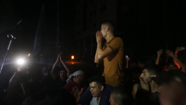 Gazze Şeridi'nde ateşkes sevinci (DHA)