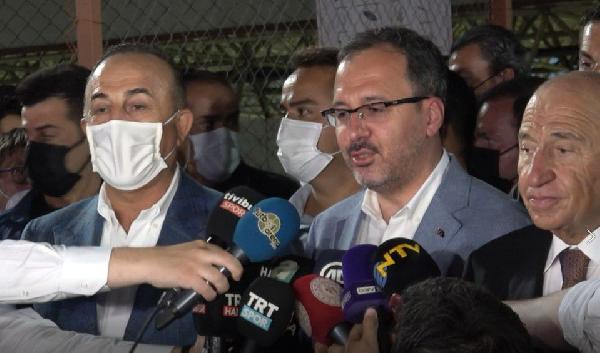 GENCLIK VE SPOR BAKANI DR. MEHMET MUHARREM KASAPOGLU, TURKIYE-AZERBAYCAN MACININ ARDINDAN ACIKLAMALARDA BULUNDU. (FOTO: ISTANBUL, DHA)