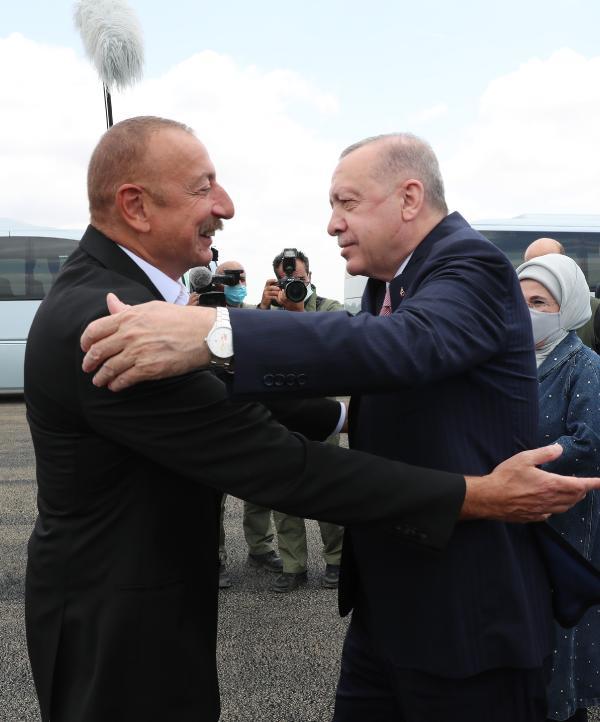 Cumhurbaşkanı Erdoğan, Azerbaycan'da (DHA)