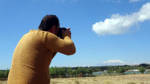 TURKIYE'NIN EN YUKSEK DAGLARINDAN OLAN, 4 BIN 58 METRE YUKSEKLIKTEKI SUPHAN DAGI'NIN ZIRVESI, KAR YAGISIYLA BEYAZA BURUNDU.  (FOTO: BARIS KUL/ERCIS,(DHA)