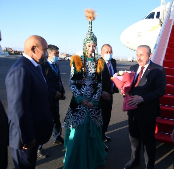 TBMM Başkanı Şentop, Türkistan şehrine geldi (DHA)