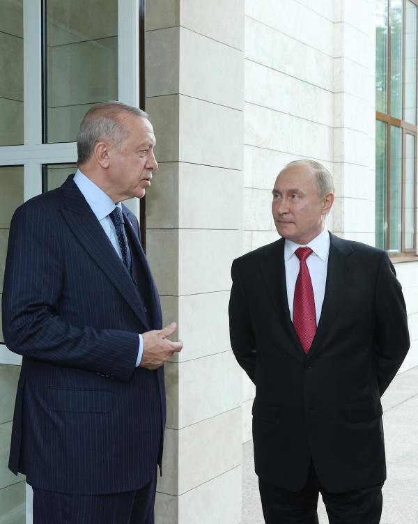 Cumhurbaşkanı Erdoğan'ın Putin ile yaptığı görüşme sona erdi (DHA)