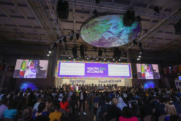 Bakan Kurum, İklim ve Gençlik Temalı Açılış Toplantısı'na katıldı (DHA)