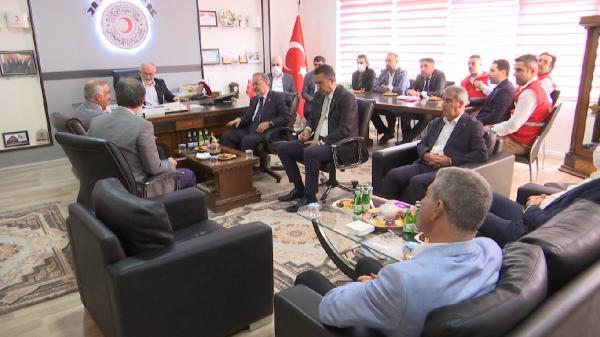 TURK KIZILAY GENEL BASKANI DR. KEREM KINIK ELAZIG'A GELDI. FOTO:ELAZIG, (DHA)