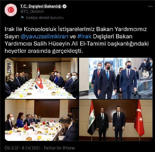 TURKIYE-IRAK KONSOLOSLUK ISTISARELERI ANKARA'DA YAPILDI FOTO-ANKARA-DHA